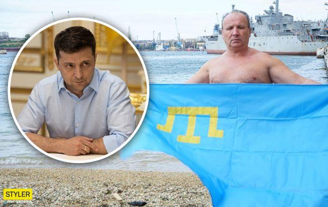 Пловец-рекордсмен из Крыма написал Зеленскому:хочу выехать наконец из этой зоны