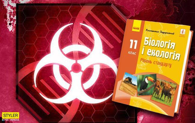 Вбити людство вірусом: в українському підручнику з біології знайшли завдання з комп'ютерної гри