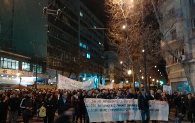 У Греції відбулися масові демонстрації на підтримку біженців
