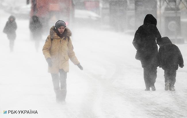 В Украину возвращаются снег и морозы: карта
