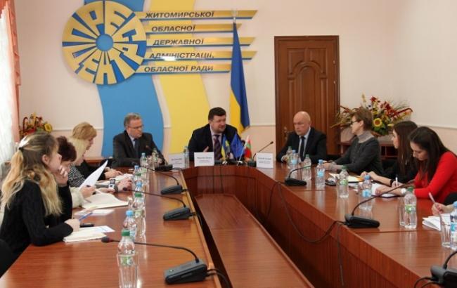 Фото: прес-конференція у Житомирській ОДА