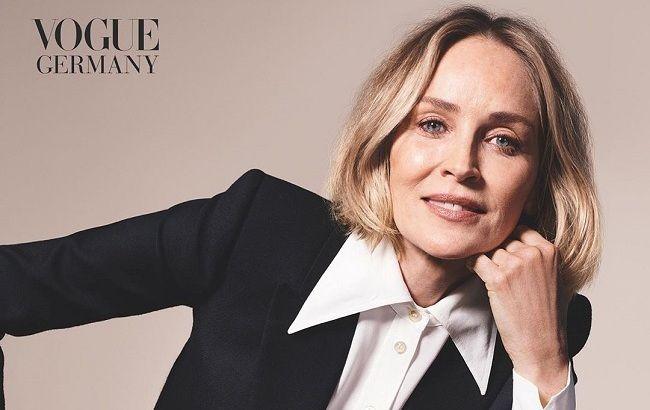 Ідеальна жінка: 62-річна Шерон Стоун блищить у відвертому вбранні з трендовим принтом