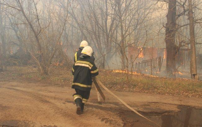 ГСЧС объяснили, почему до сих пор не потушили пожар в районе Чернобыля