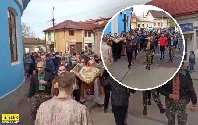 Возле массовой религиозной процессии Львова предстанут перед судом (видео)
