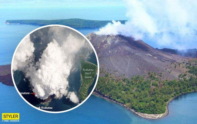 Извержение смертоносного вулкана со спутника: блестящие фотографии