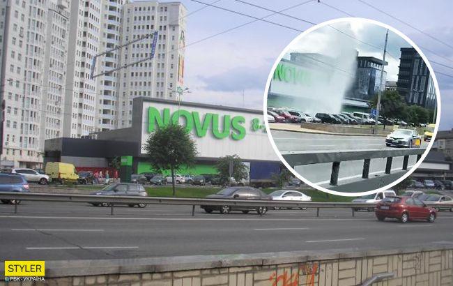 В Киеве прорвало трубу: в центре столицы забил гейзер