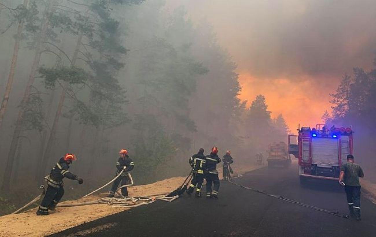 Через бойовиків авіація не може гасити пожежі, - Луганська ОДА