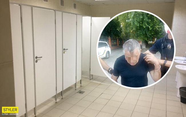 Киевлянин приставал к ребенку в общественном туалете, пока мама ждала на улице