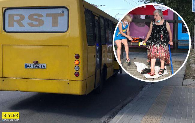 У Києві маршрутник затиснув дверима пенсіонерку, протягнув по асфальту і переїхав ногу (відео)