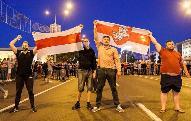 Затримання в центрі Мінська на протестах на підтримку опозиції: що відомо