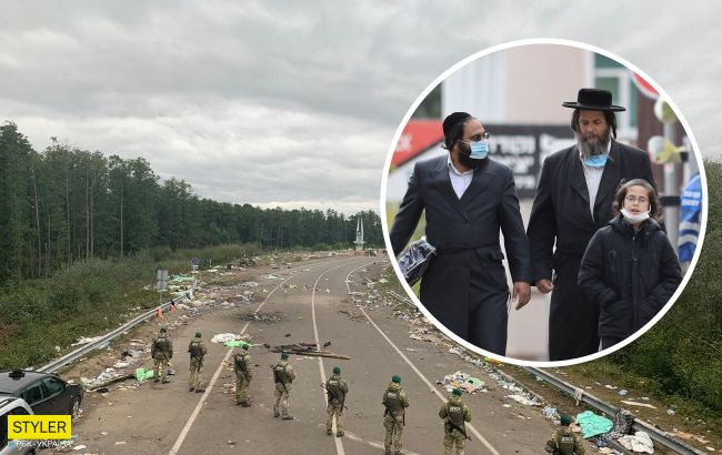 Хасиди пішли з українського кордону, залишивши гори сміття (фото)