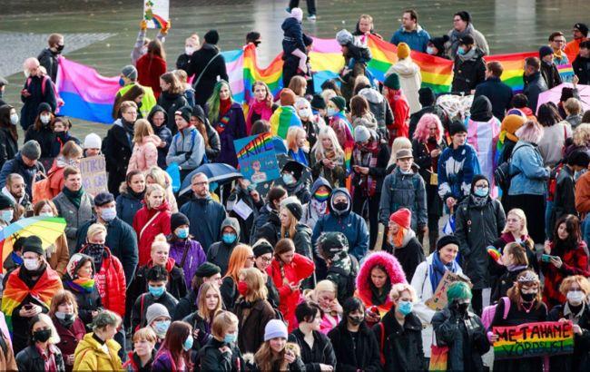 В Естонії відбулася акція на підтримку ЛГБТ після висловлювань глави МВС