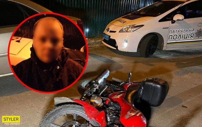 В Киеве мотоциклист вырвал у женщины сумку и получил за это мгновенную расплату