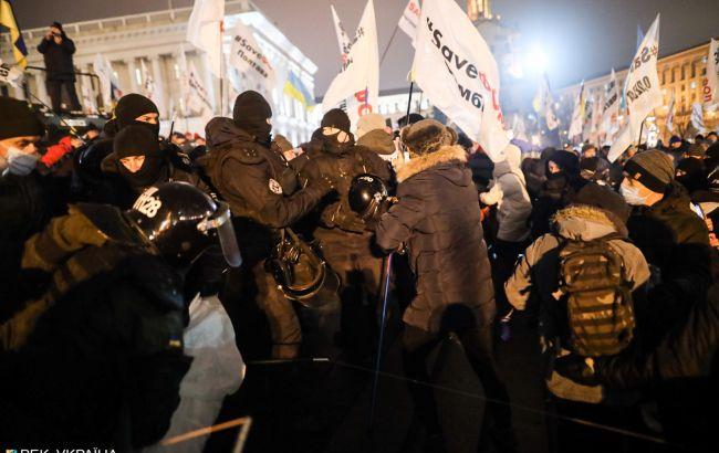 Протест ФОПів на Майдані: поліція демонтує намети, почалися сутички