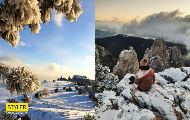 В Крим прийшла справжня зима: від краси перехоплює подих (фото, відео)