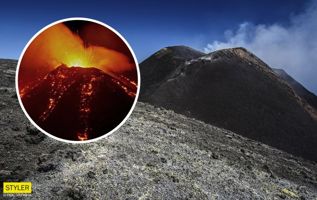В Италии проснулся вулкан Этна: в сеть попали мощные кадры извержения