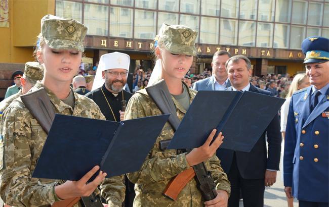Фото: Присяга в Национальной Академии сухопутных войск во Львове (mil.gov.ua)