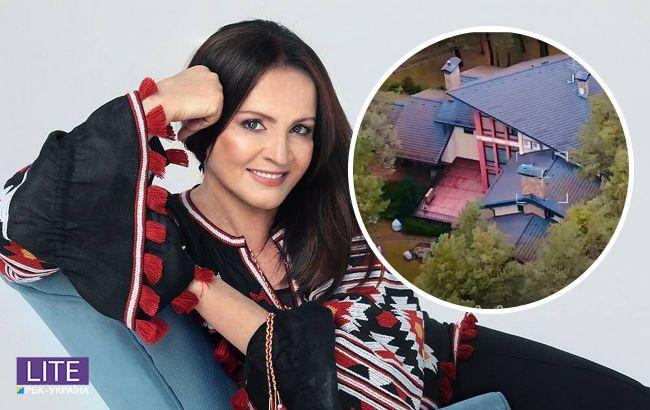 Розкішний особняк Софії Ротару показали на відео: має незвичайну форму