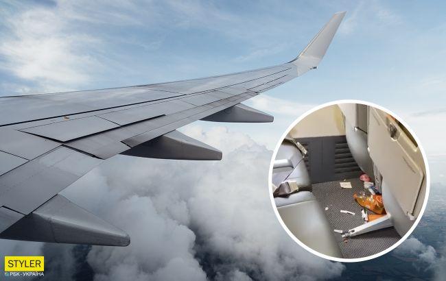 Пассажиры самолета на Хургаду устроили свинарник в салоне: украинцев разозлило видео