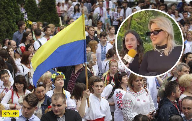 Харьковчанка грубо раскритиковала марш вышиванок и попала в скандал: что о ней известно (видео)