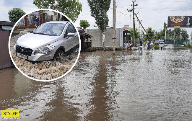 Известный украинский курорт уже три дня находится под водой: базы отдыха тоже затоплены