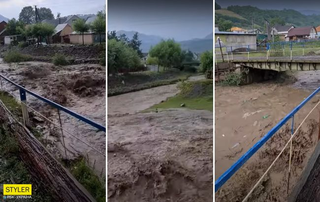 Вода все сметает на своем пути: жуткое видео наводнения из Закарпатья