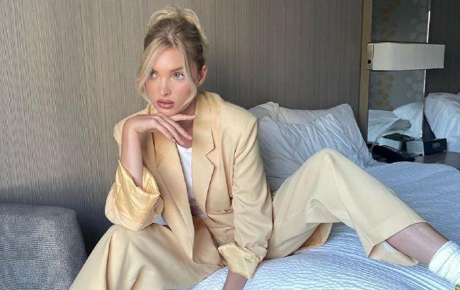 Идеальное сочетание: модель и икона стиля Эльза Хоск показала, как носить брючный костюм