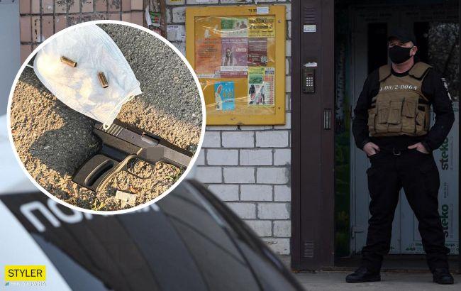 В Киеве пьяный неадекват устроил хаотичную стрельбу из-за замечания прохожих