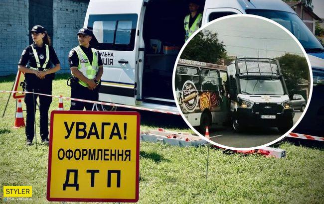 В Луцке авто Нацгвардии столкнулось с маршруткой с пассажирами (фото)