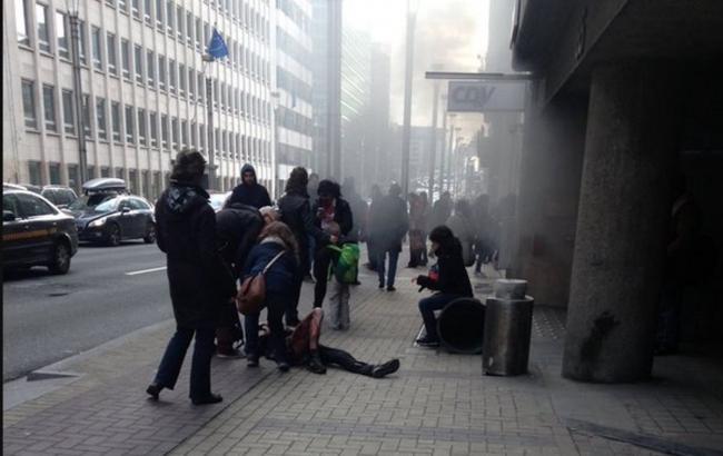 Фото: взрывы в метро Брюсселе