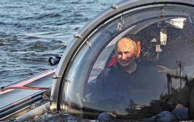 Путин погружается на дно моря в Крыму