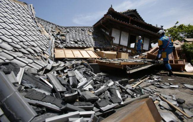 Сильное землетрясение в Японии