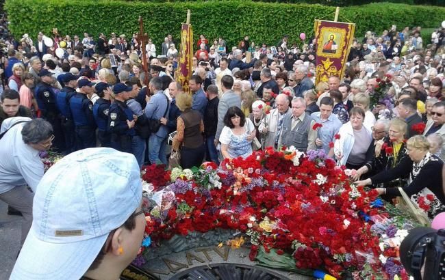 Фото (РБК-Україна): парк Вічної слави в Києві
