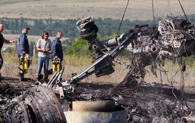 Фото: місце аварії малазійського Boeing на Донбасі