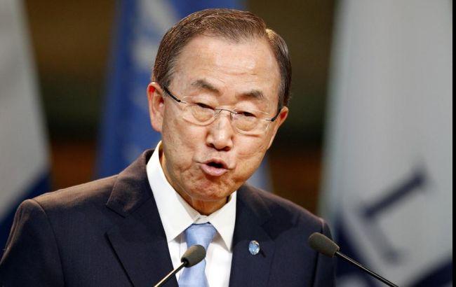 Фото: генсек ООН Пан Гі Мун висловив співчуття сім'ям загиблих і пораненим