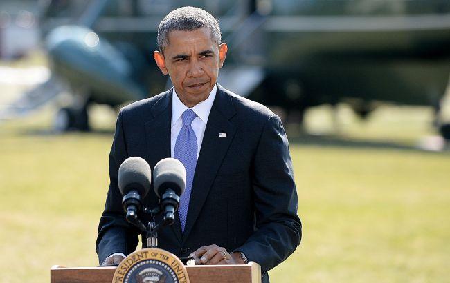 """Фото: президент США Барак Обама призвал американцев """"отбросить отчаяние"""""""