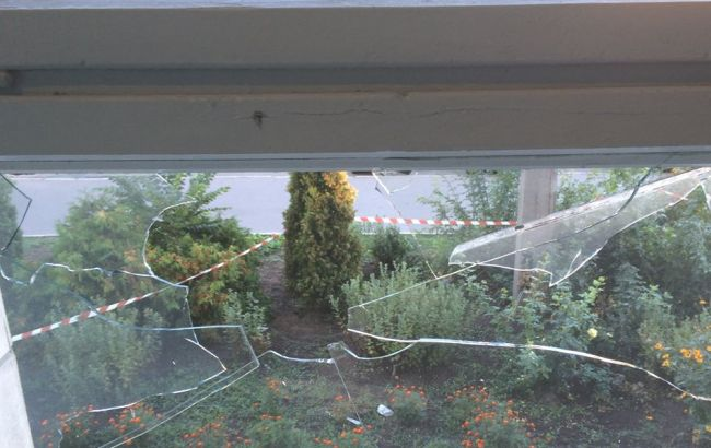 Фото: взрыв в Белоцерковской РГА
