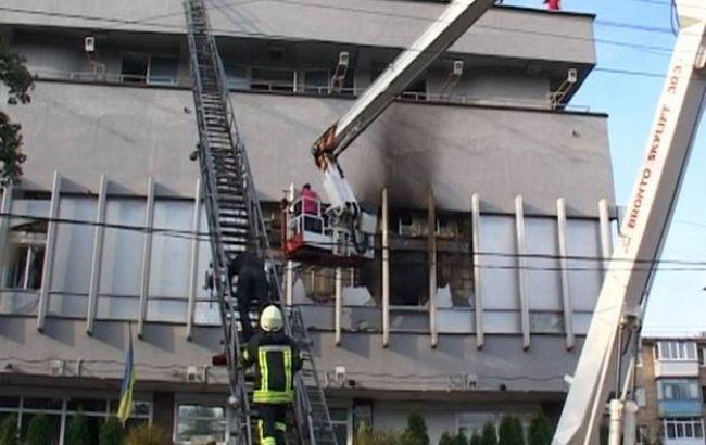 """Фото: пожежа на телеканалі """"Інтер"""""""