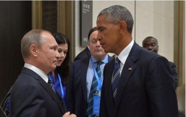 Фото: Барак Обама і Володимир Путін (news.21.by)
