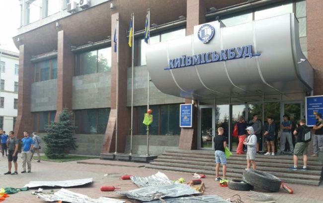 """Фото: """"Киевгорстрой"""" объявил забастовку"""