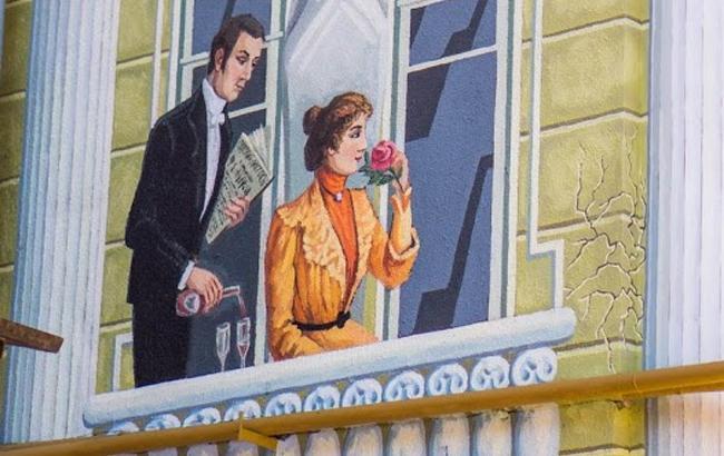 Фото: Малюнок на будинку Бабеля в Одесі (times.od.ua)