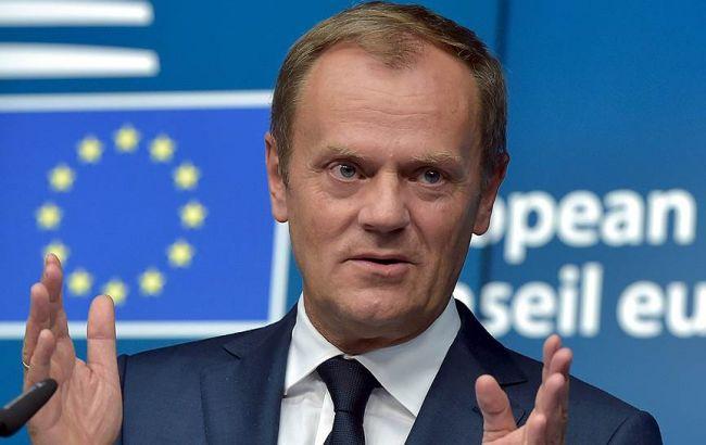Фото: глава Европейского совета Дональд Туск
