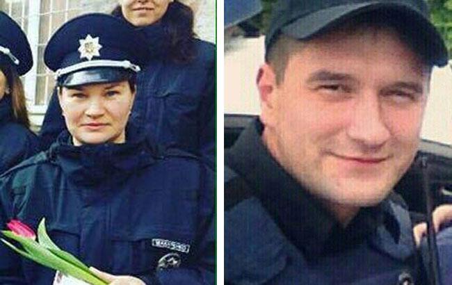 Фото: Артем Кутушев і Ольга Макаренко - вбиті в Дніпрі поліцейські (npu.gov.ua)