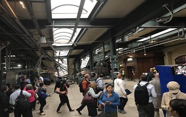 Фото: павария поезда в США