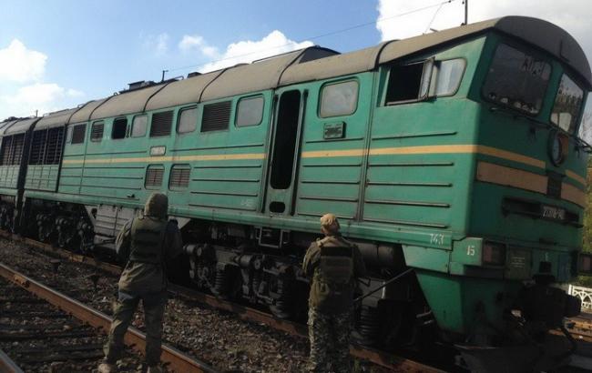 "Фото: Поезд на ""ЛНР"" (ssu.gov.ua)"