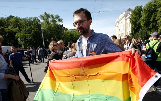 Фото: Сергій Лещенко на марші на підтримку ЛГБТ в Києві (Віталій Носач, РБК-Україна)
