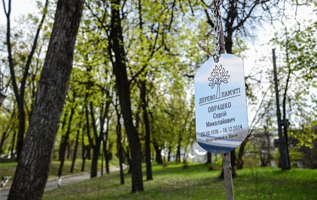 Фото: Дерево пам'яті в Києві (sprava.org.ua)