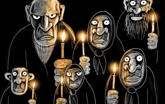 Фото: Отключение света - карикатура (uainfo.org)