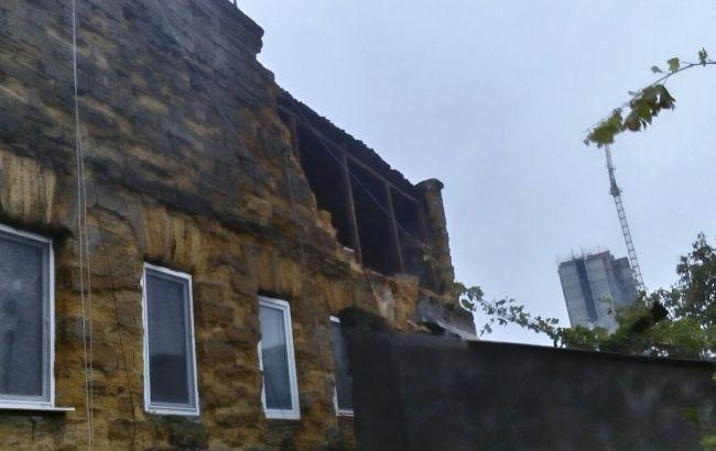 Фото: обвал стіни в Одесі