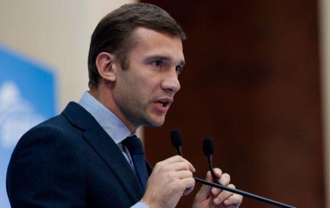 Фото: Андрей Шевченко, тренер Сборной Украины (telegraf.com.ua/sport-cat/futbol)